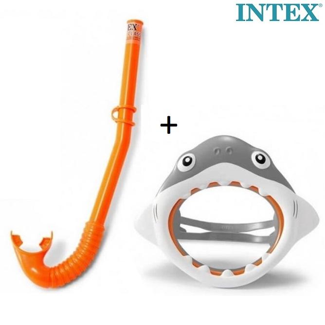 Intex cyklop och snorkel för barn haj