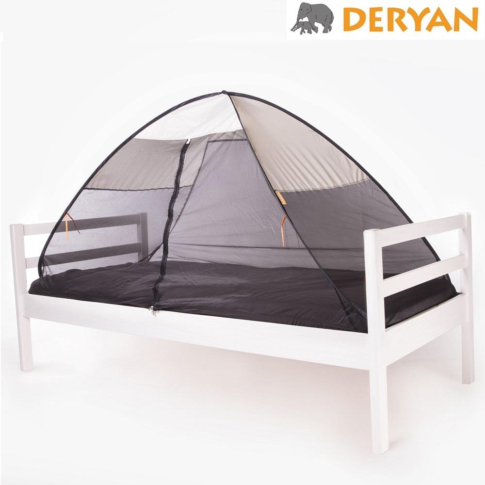 Myggnät till säng Deryan Pop-up Bedtent Cream
