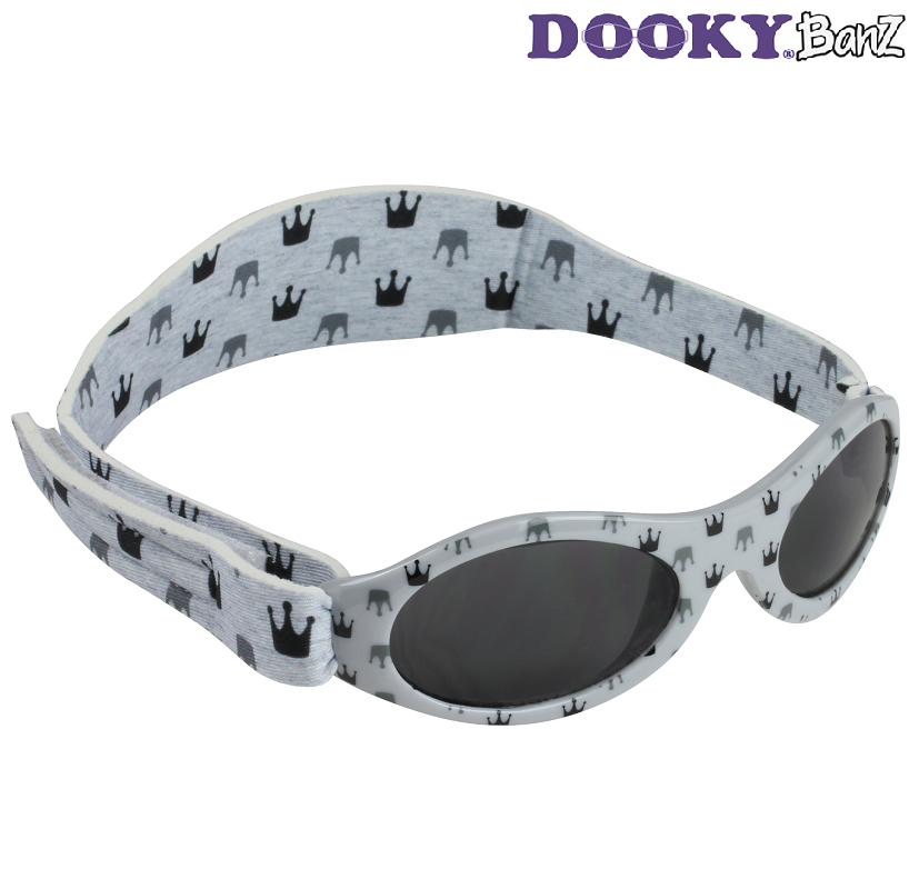 Solglasögon barn DookyBanz Grey Crowns