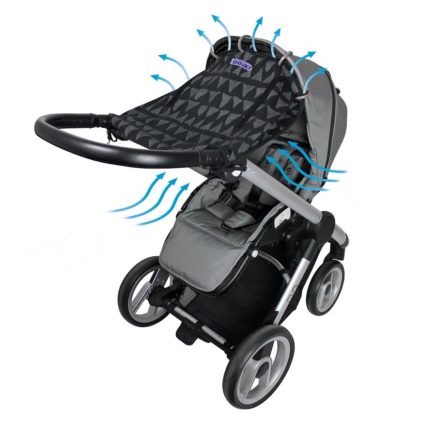 Solskydd barnvagn Dooky Design Black Tribal