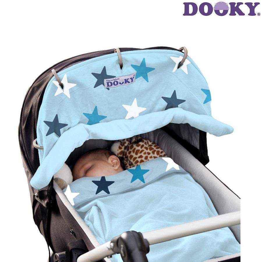 Solskydd barnvagn Dooky Design Blue Stars