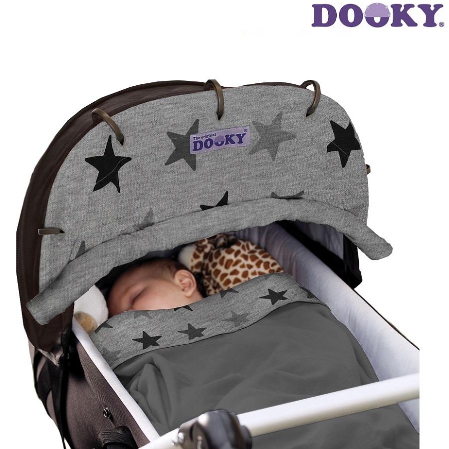 Solskydd barnvagn Dooky Design Grey Stars