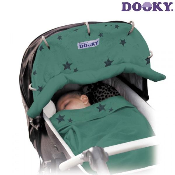Solskydd barnvagn Dooky Design Pink Hearts