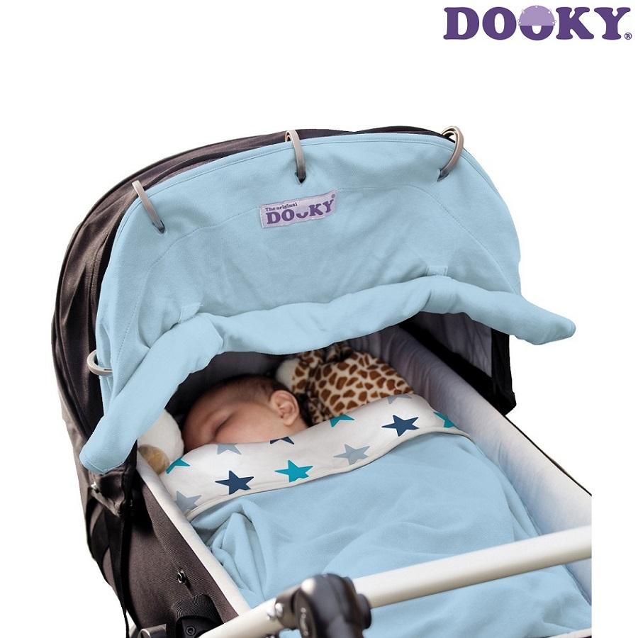 Solskydd barnvagn Dooky Baby blue ljusblå