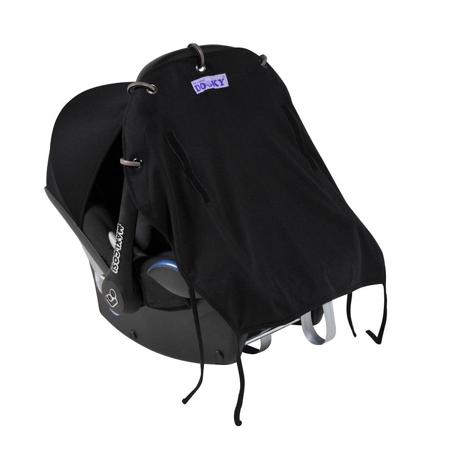 Solskydd barnvagn Dooky Baby svart