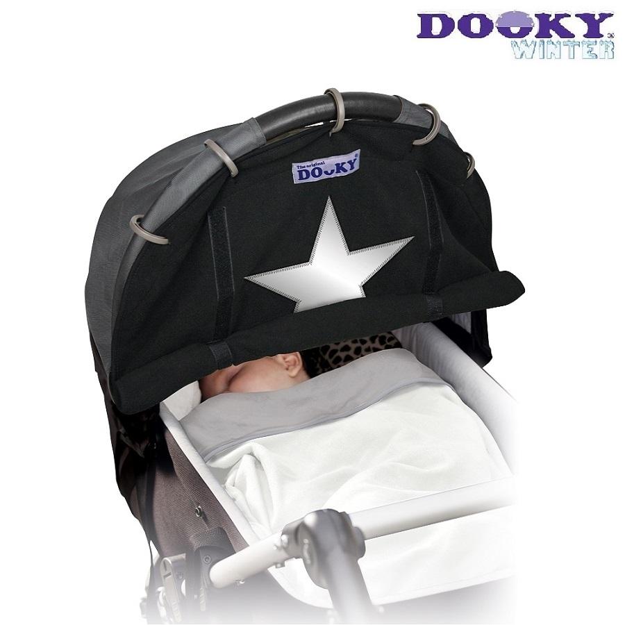 Solskydd barnvagn Dooky Winter Black star