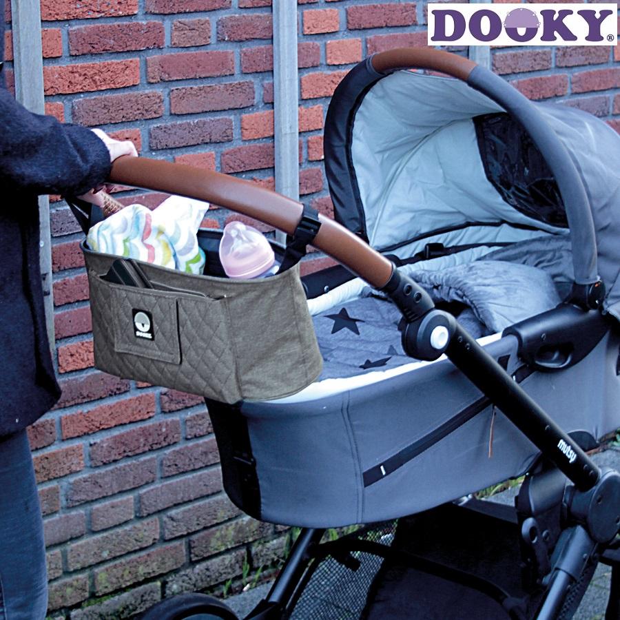 Barnvagnsväska Dooky Pram organizer grå