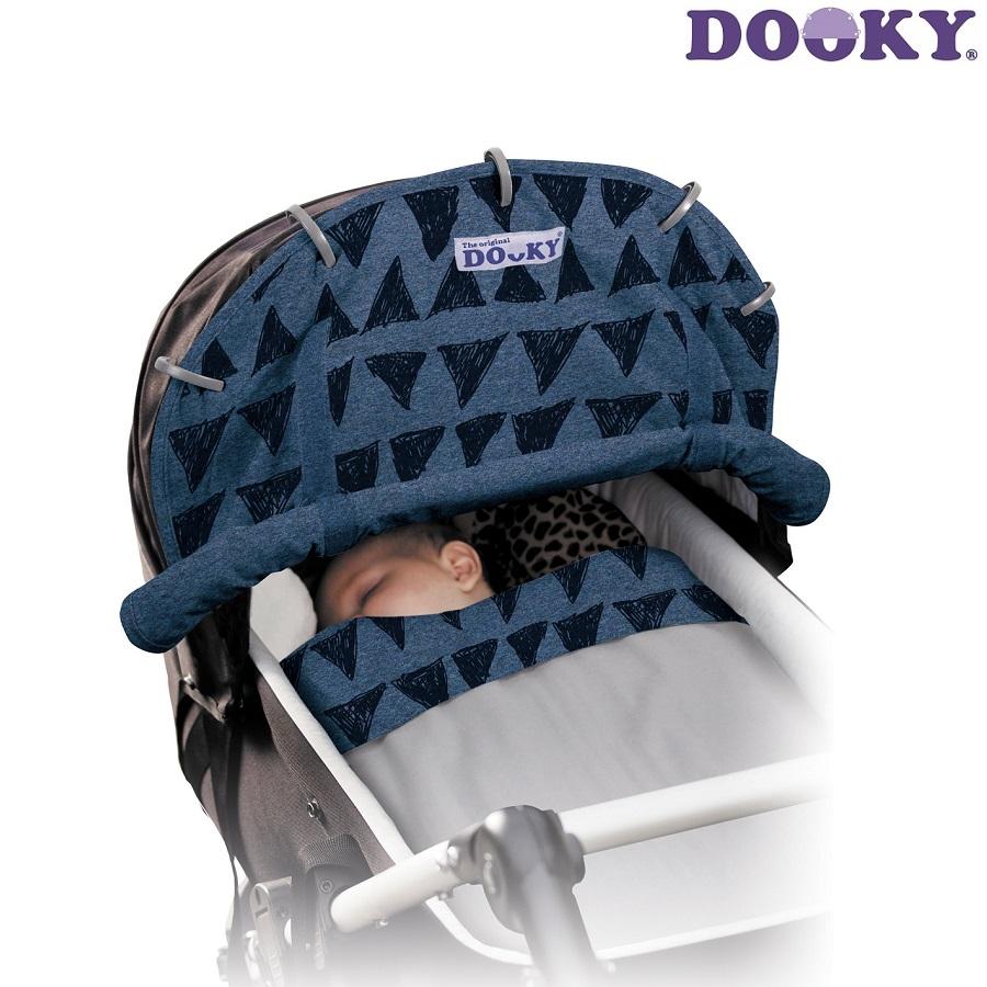 Solskydd barnvagn Dooky Design Blue Tribal