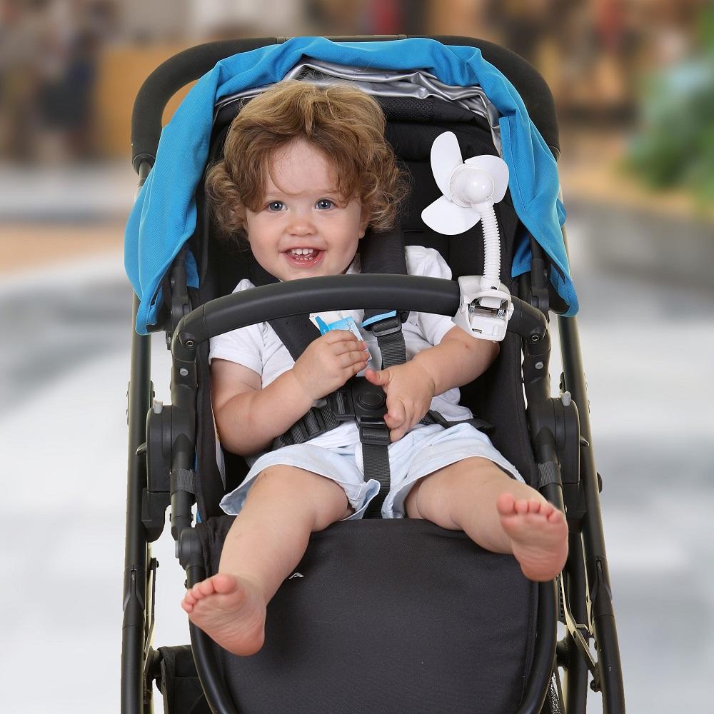 Barnvagnsfläkt Dreambaby Stroller fan vit