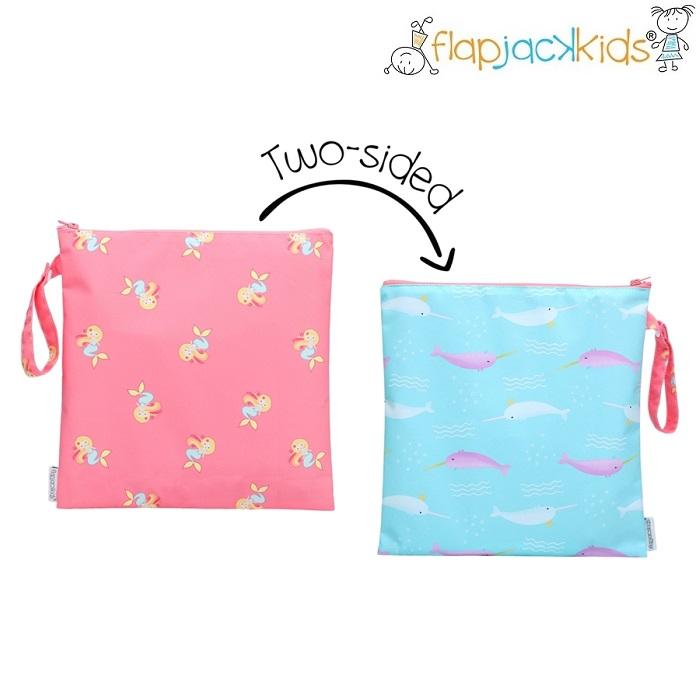 Väska till badkläder FlapJackKids Wetbag Mermaid and Narwhale
