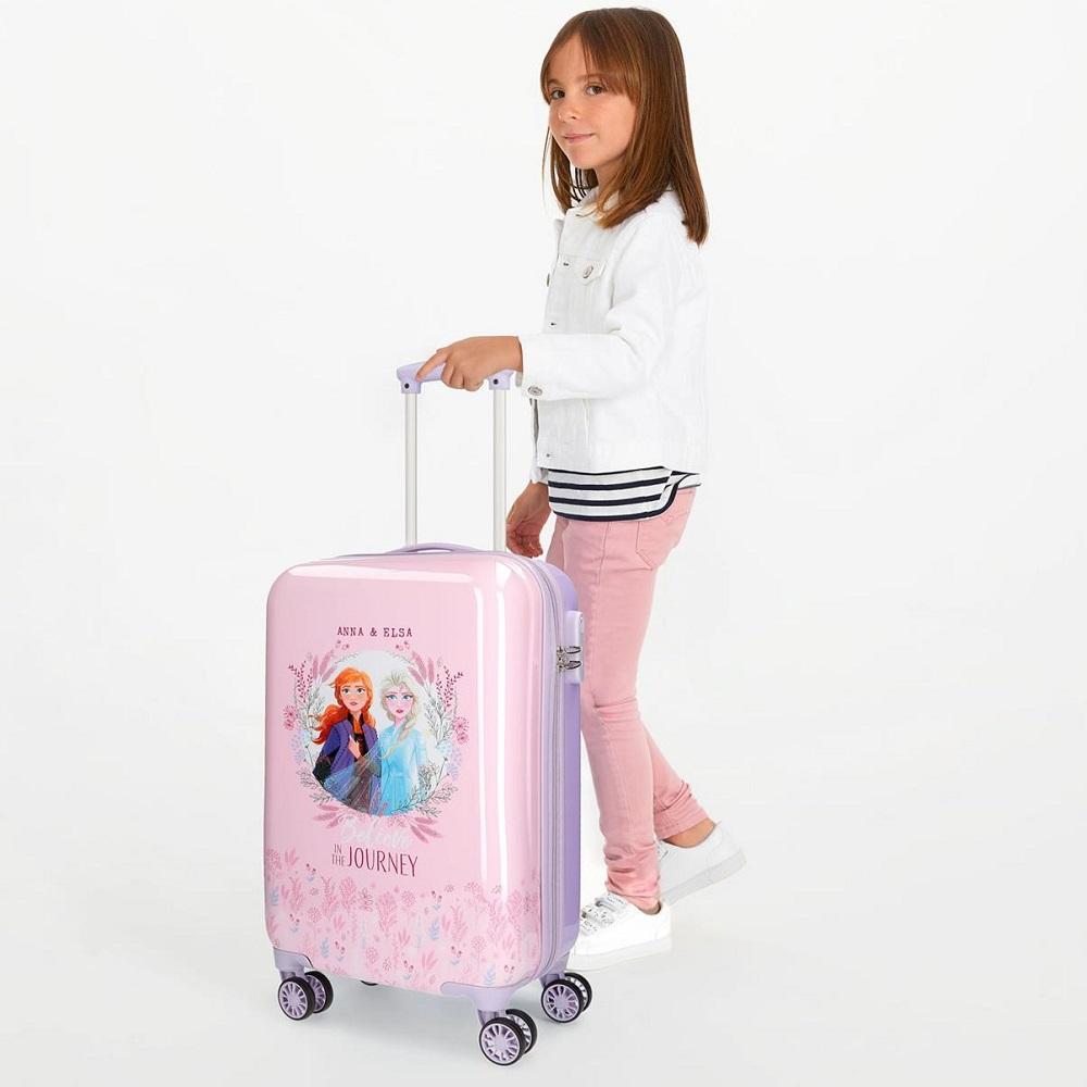Resväska barn Frost Believe in the Journey rosa och ljuslila ABS
