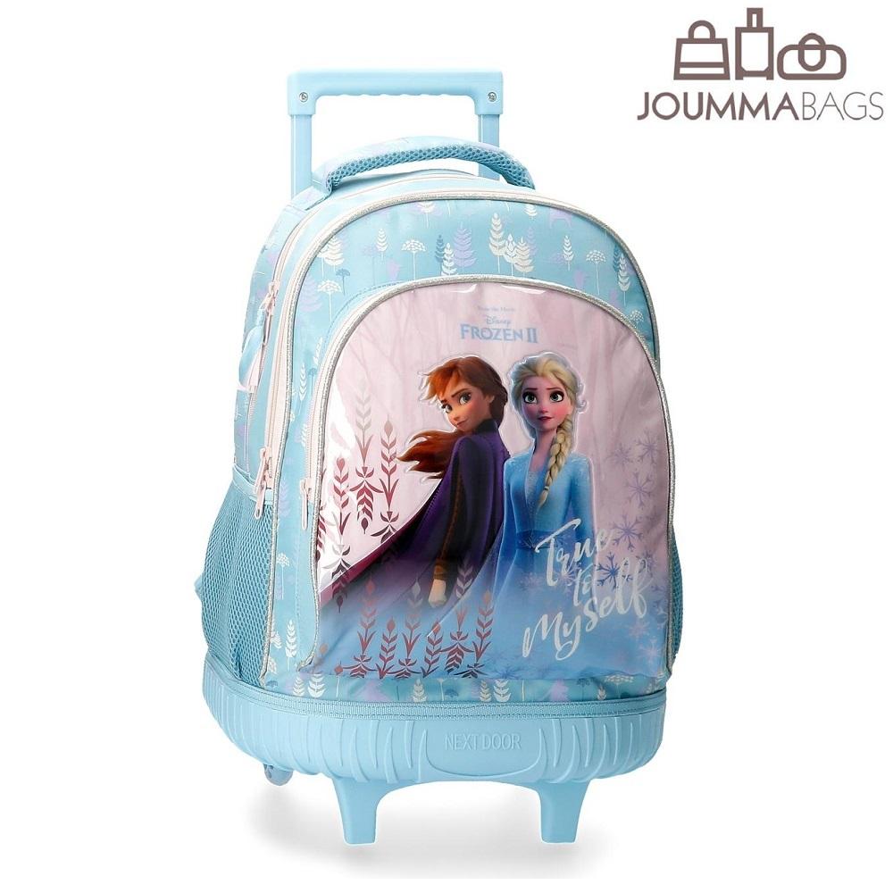 Frost barnresväska True to Myself Ljusblå med Elsa och Anna