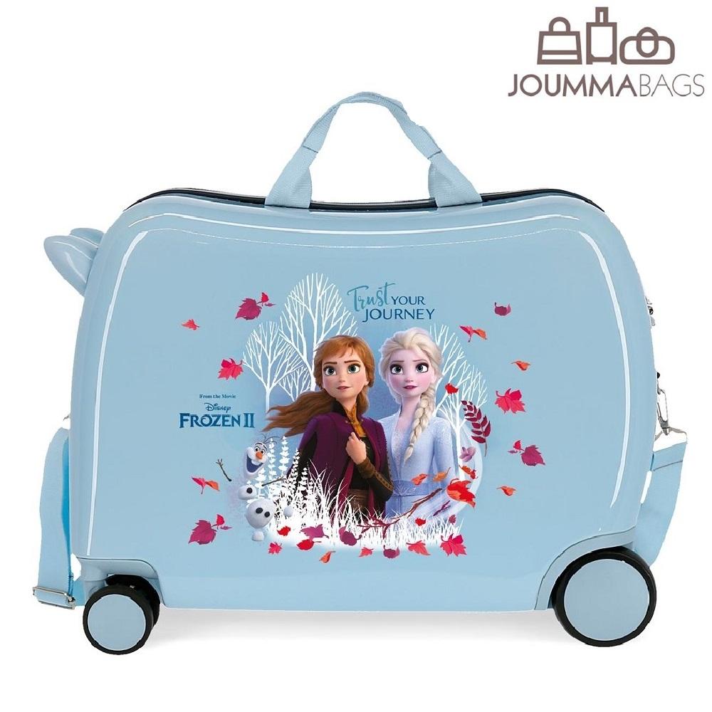 Frost resväska att åka på ljusblå Trust your Journey
