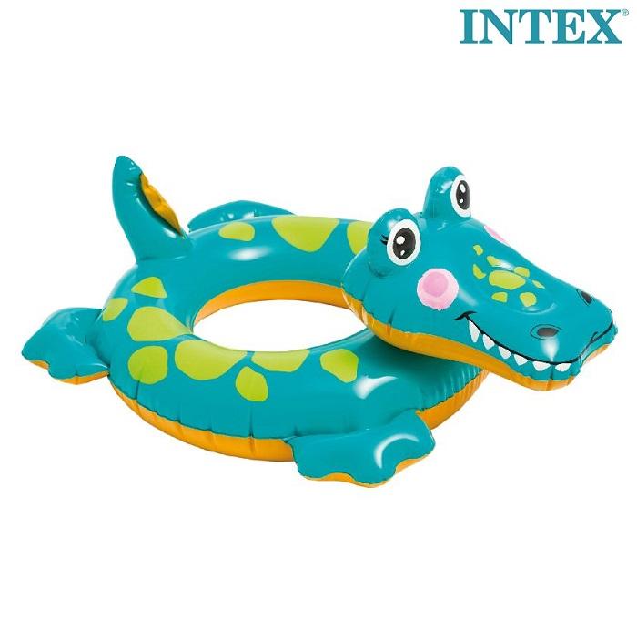 Uppblåsbart baddjur Intex krokodil