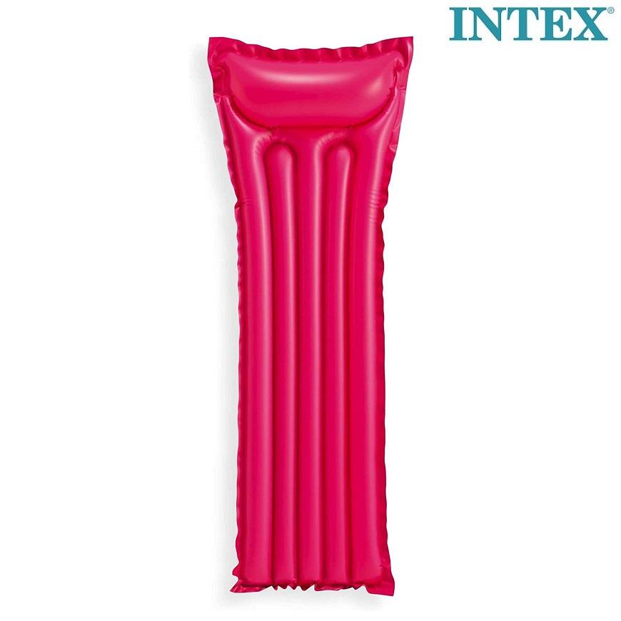 Uppblåsbar badmadrass för barn Intex röd