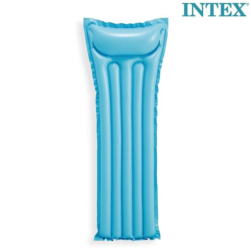 Uppblåsbar badmadrass för barn Intex blå