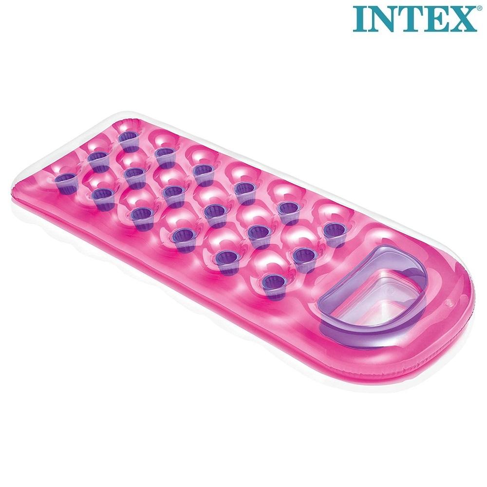 Badmadrass med fönster för barn Intex rosa