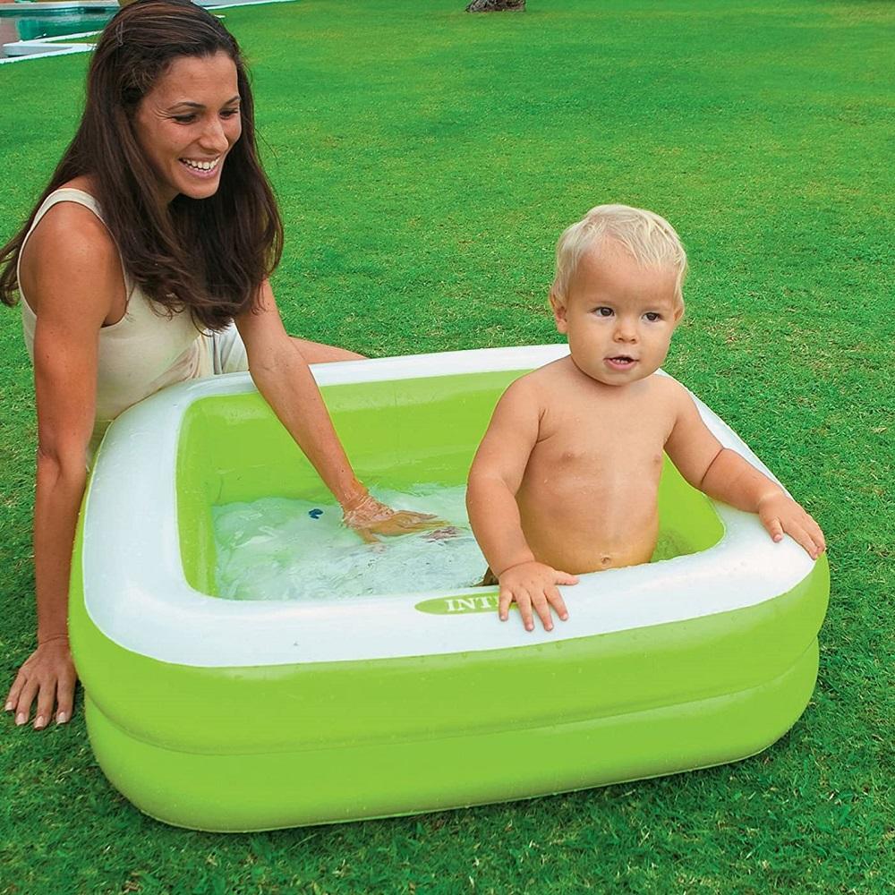 Barnbassäng Intex fyrkantig grön