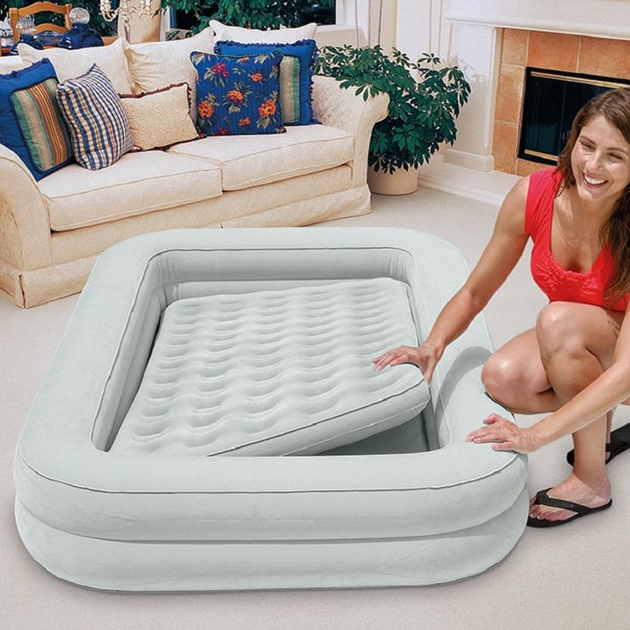Uppblåsbar resesäng Intex Kidz Travel Bed Set