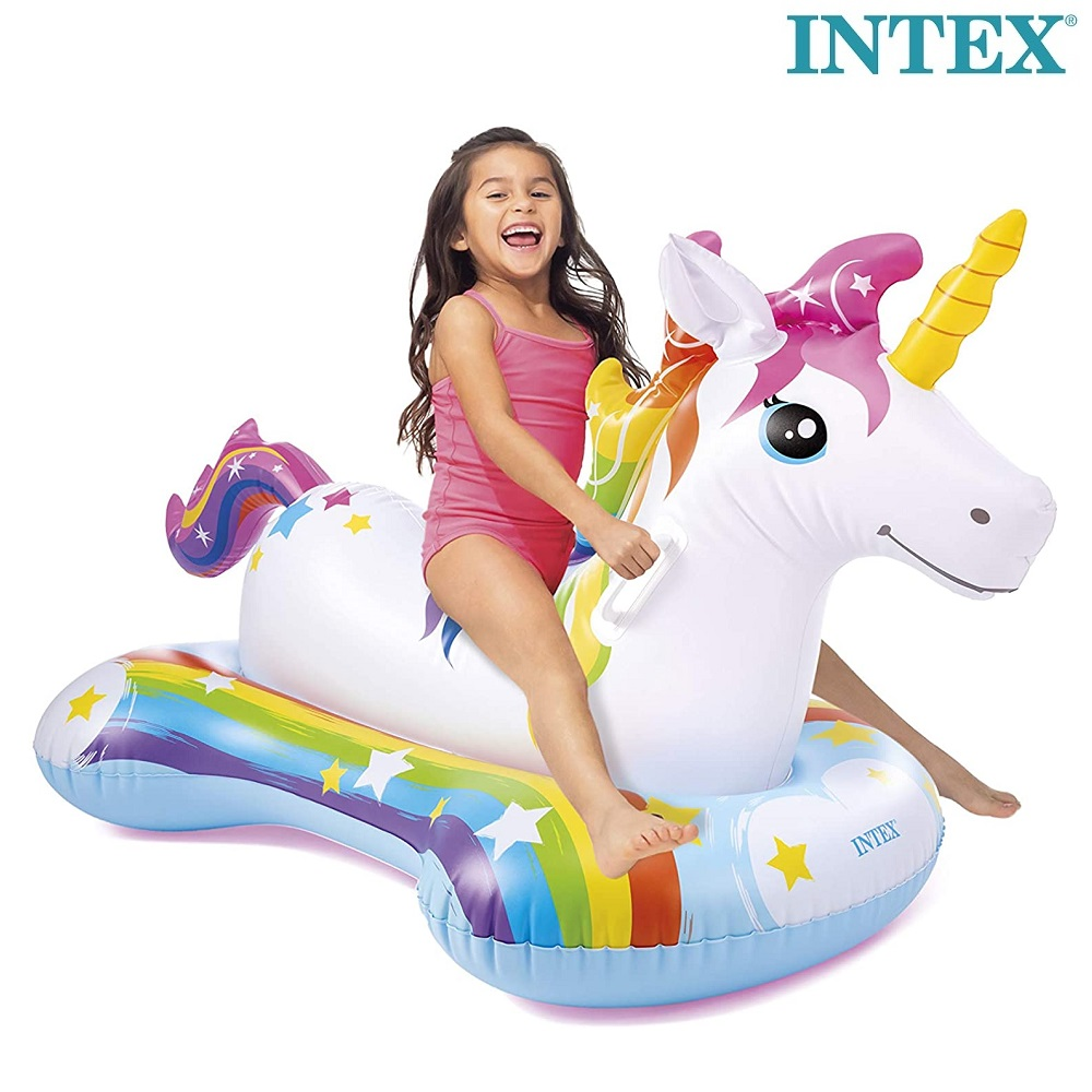 Uppblåsbart baddjur för barn Intex Unicorn stor