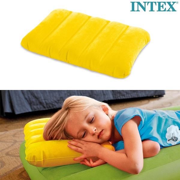 Uppblåsbar resekudde Intex gul
