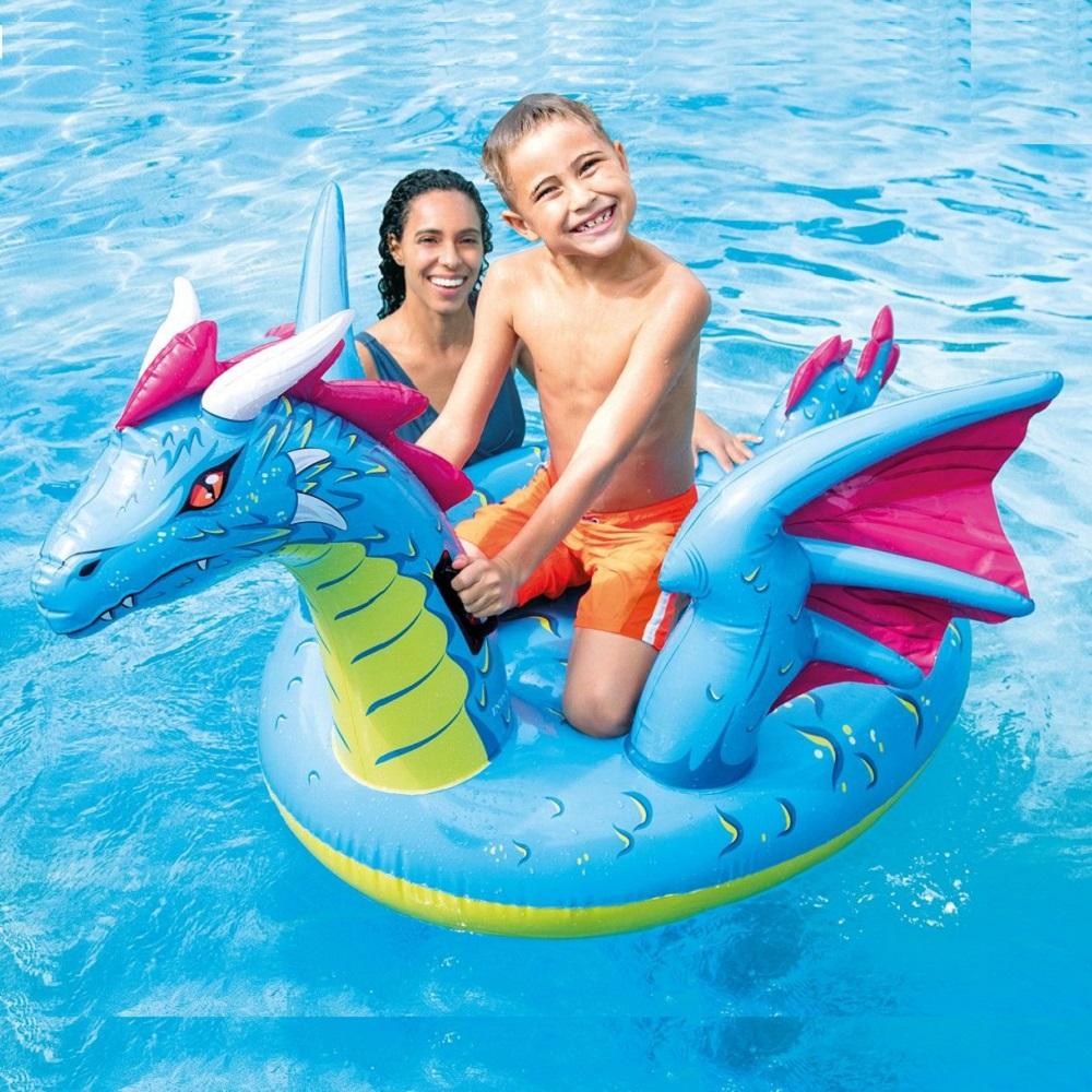 Uppblåsbart baddjur XL Intex Drake