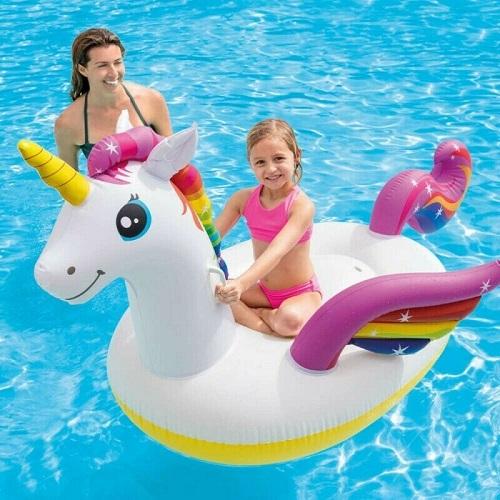 Uppblåsbart baddjur XL Intex Enhörning