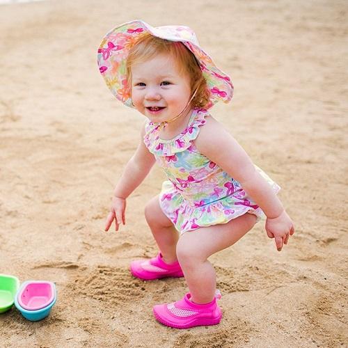 Badskor barn Iplay Hot Pink Rosa