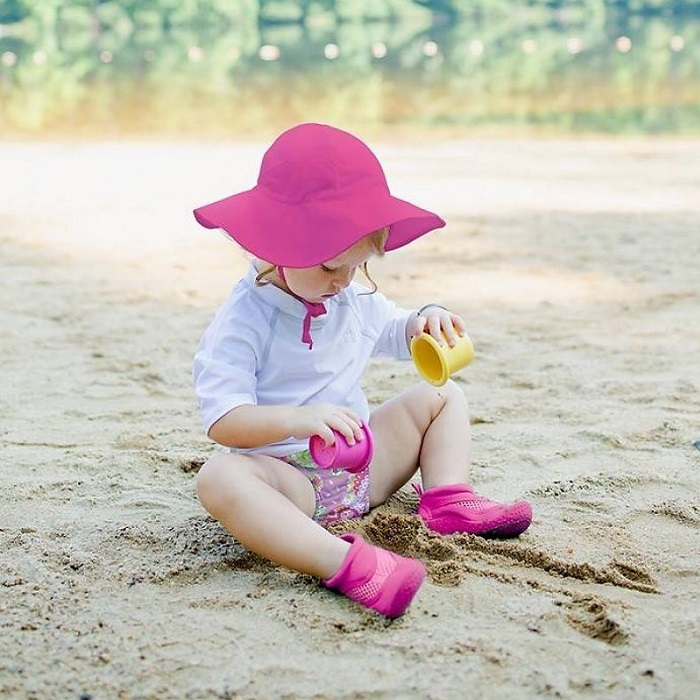 Solhatt barn Iplay Brim Hot Pink Rosa