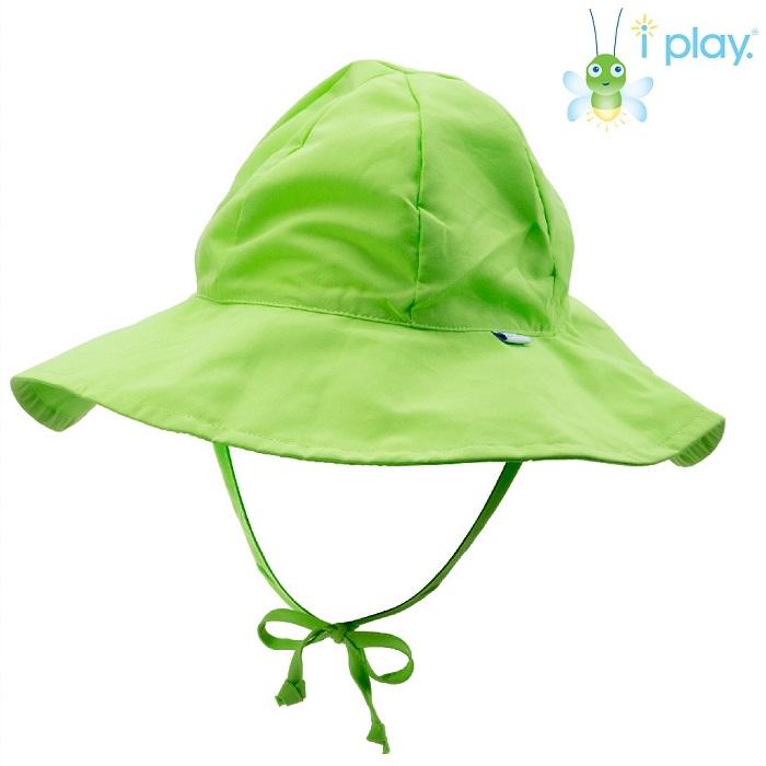 Solhatt barn Iplay Brim Lime Grön