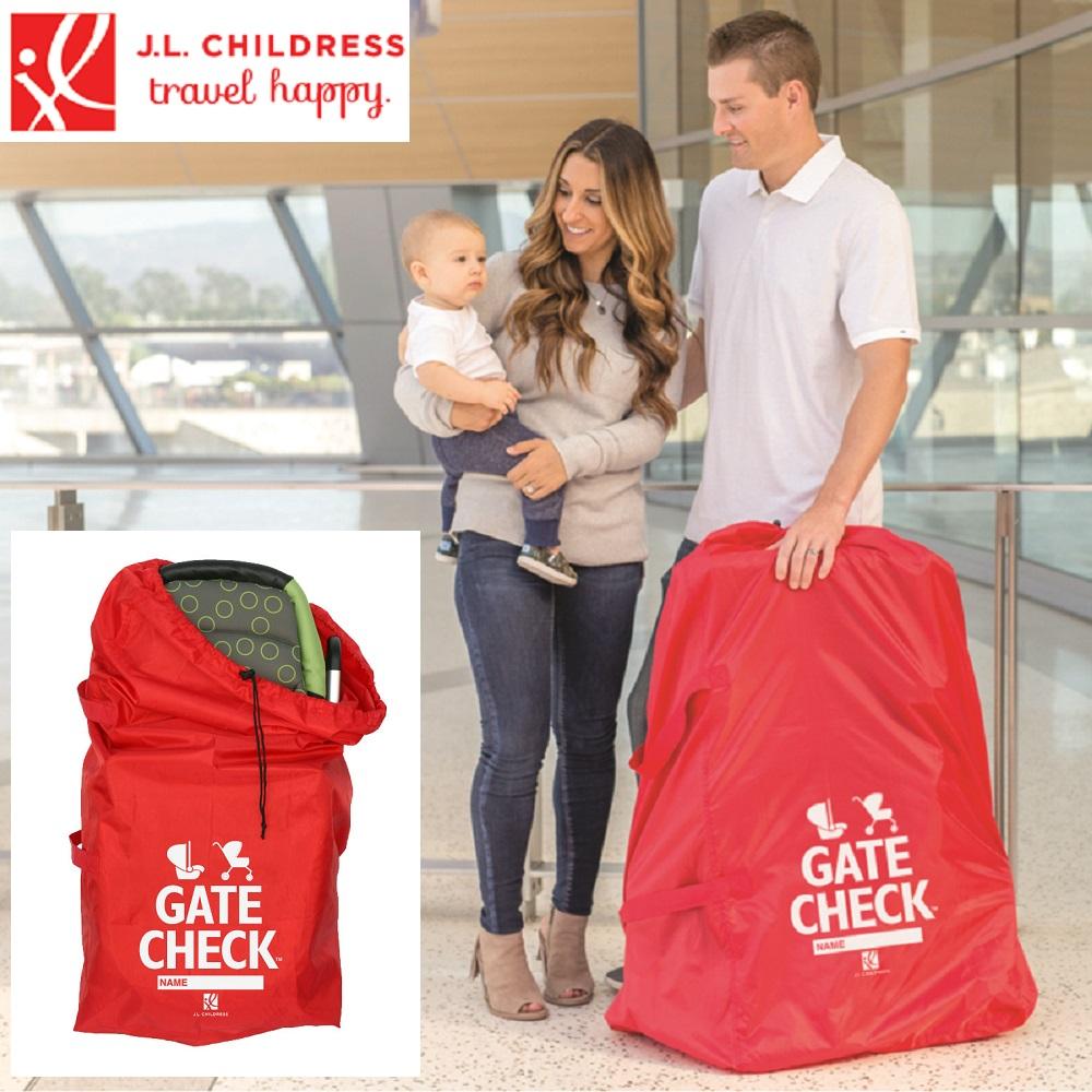 Transportväska barnvagn JL Childress Gate Check röd