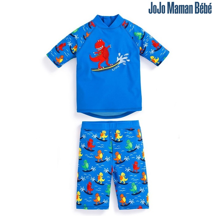 UV-tröja och UV-byxor Jojo Maman Bebe Blue Dino