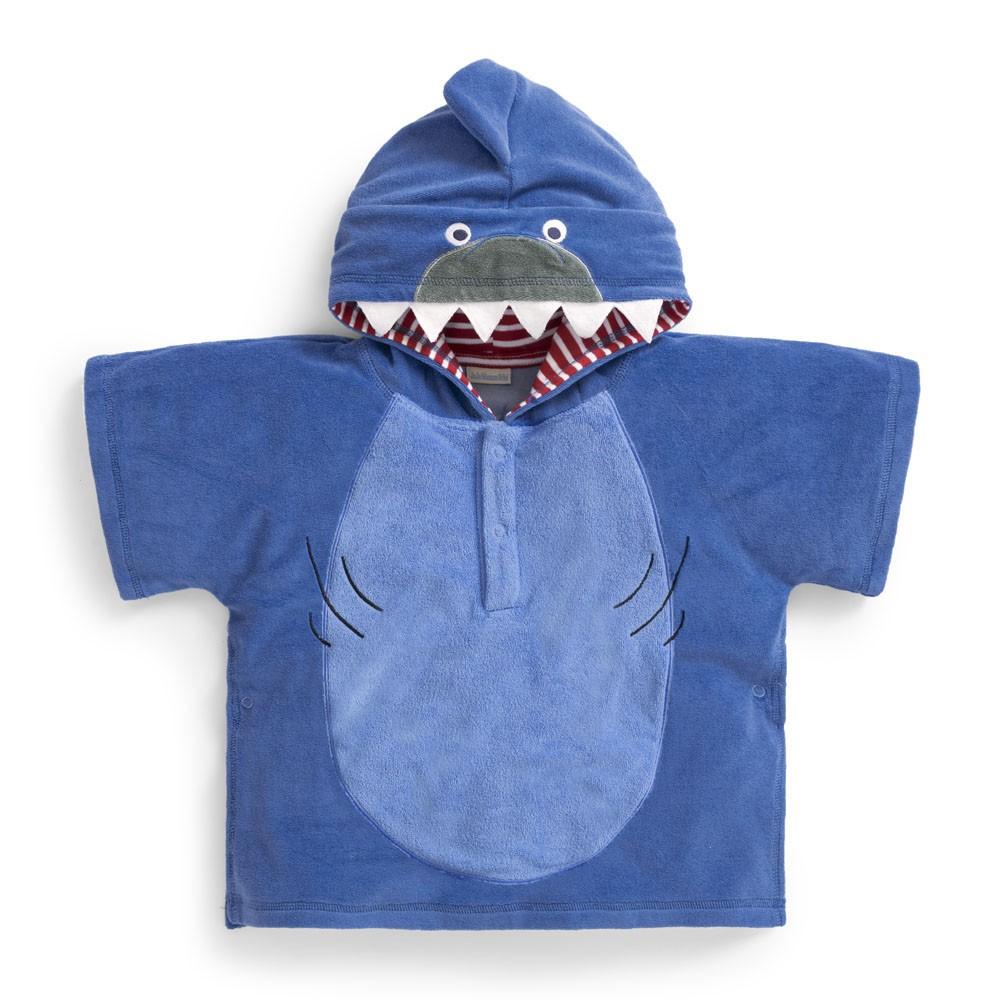 Badponcho barn Jojo Maman Bebe Blue Shark