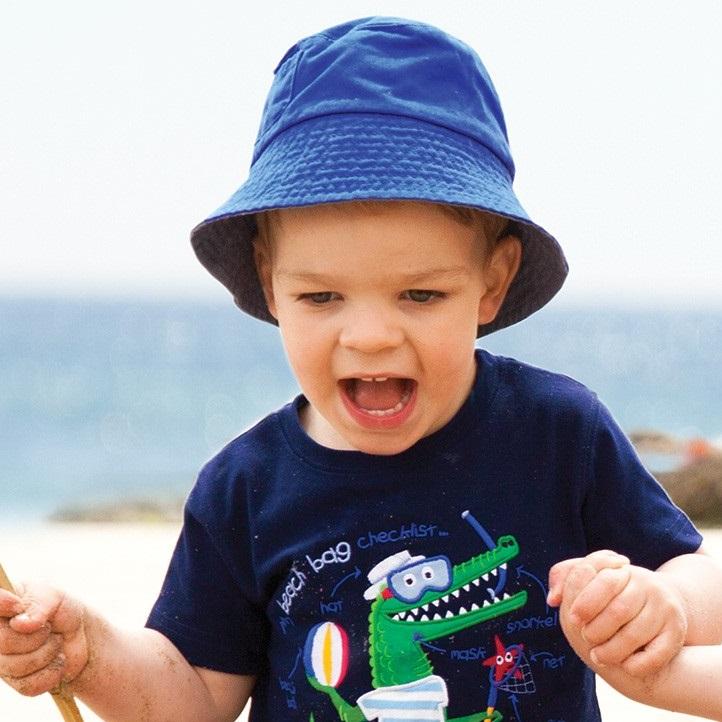 Solhatt barn Jojo Maman Bebe Bucket Coboltblå