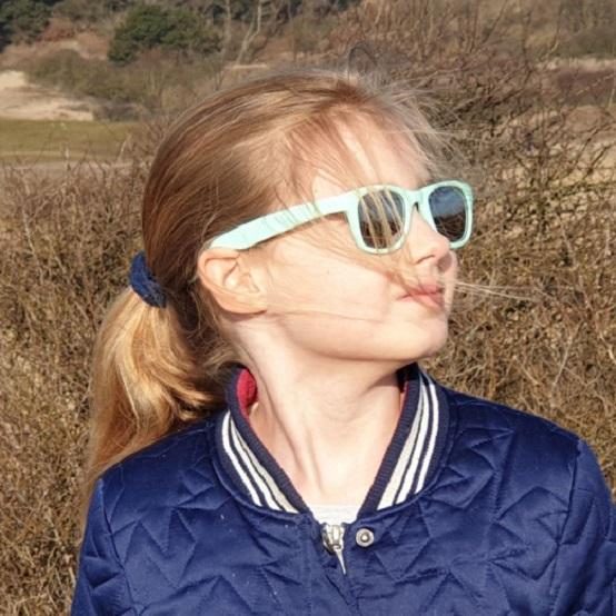 Solglasögon barn Koolsun Wave Bleached Aqua
