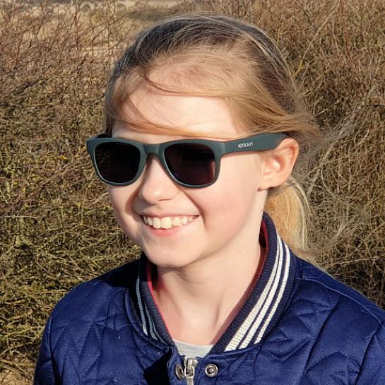 Solglasögon barn - Koolsun Wave Gunmetal Grey