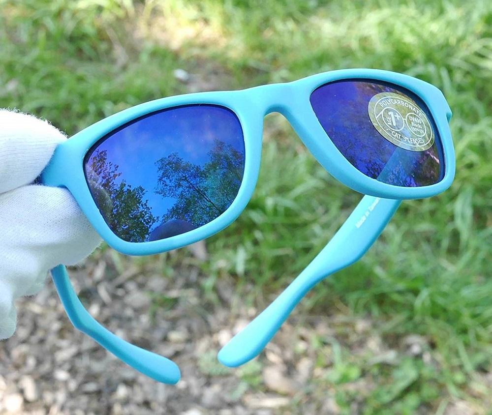 Solglasögon barn - Koolsun Wave Neon Blue