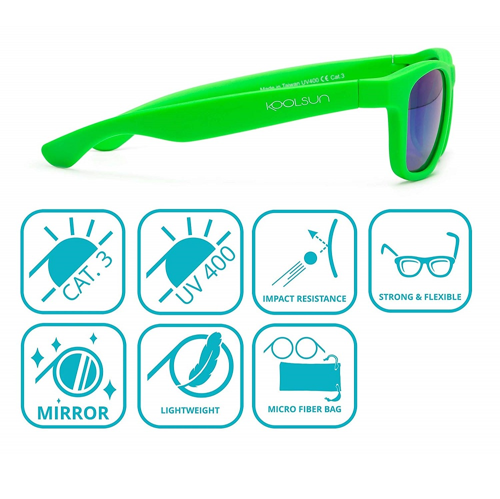 Koolsun Wave solglasögon barn - Neon Green