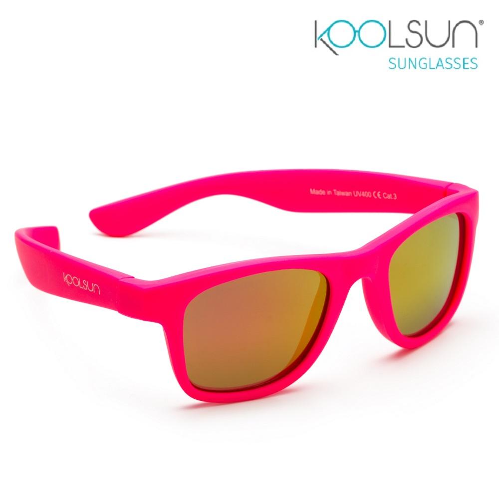 Koolsun Wave solglasögon barn - Neon Pink