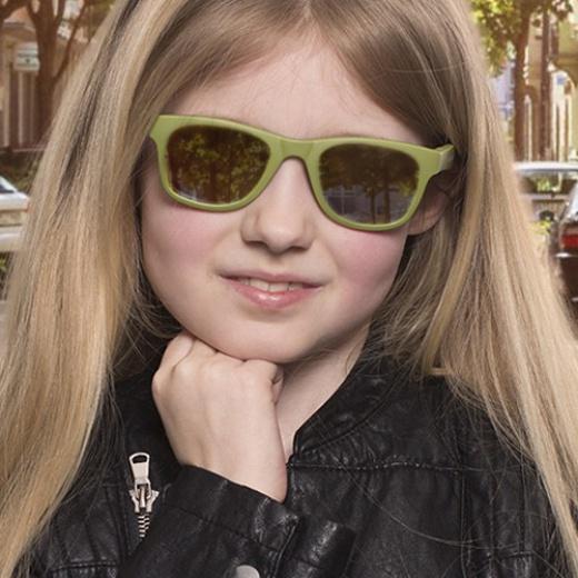 Solglasögon barn Koolsun Wave Olivgrönda