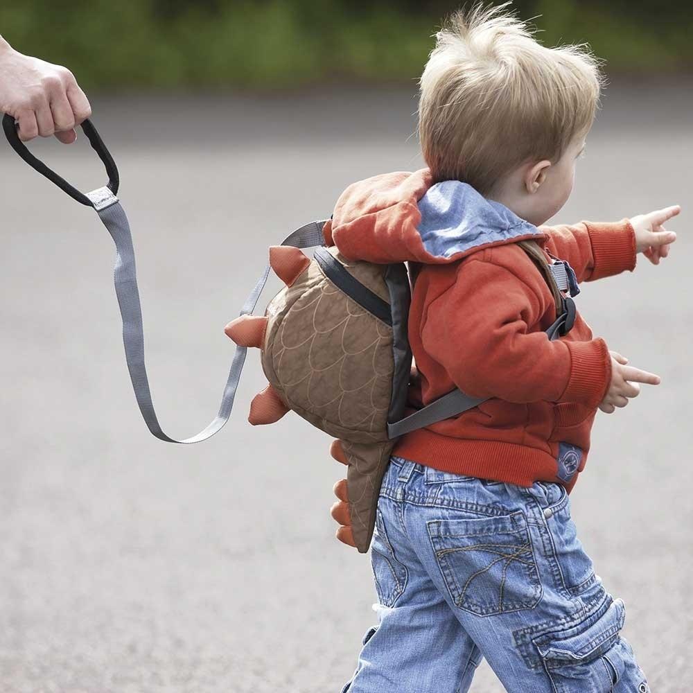 Barnryggsäck LittleLife Toddler Dino brun