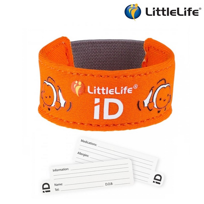 Id armband barn Littlelife Id Strap Clownfish orange