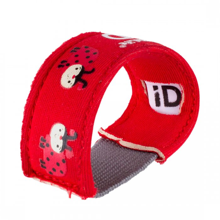Id armband barn Littlelife Id Strap Ladybrid rött