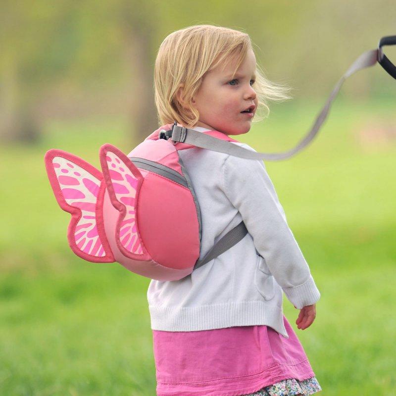 Barnryggsäck LittleLife Toddler Butterfly rosa