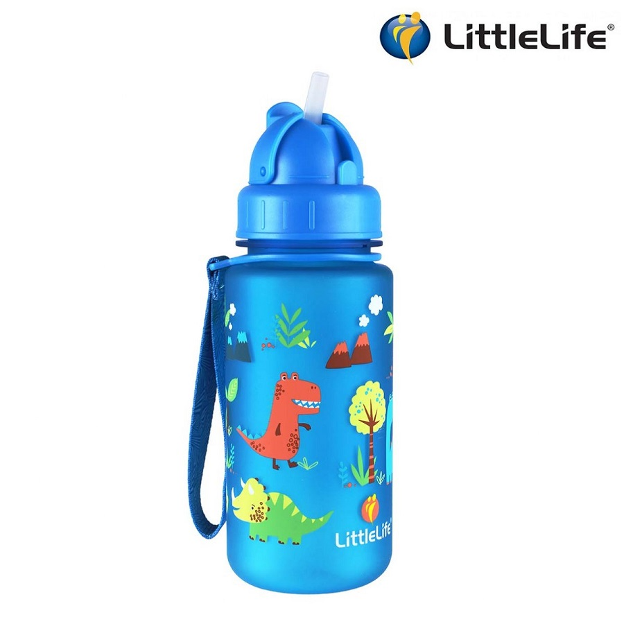 Vattenflaska barn Littlelife Dino 400 ml Blå