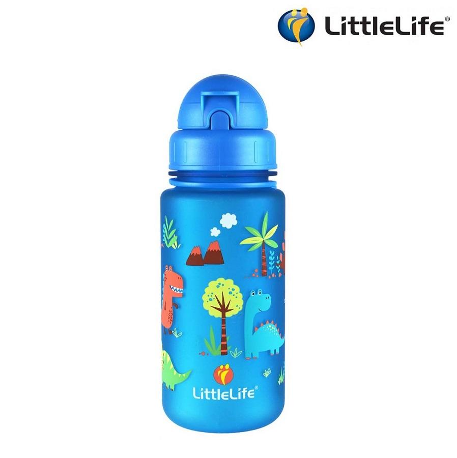 Vattenflaska barn Littlelife Dino 400 ml Blå