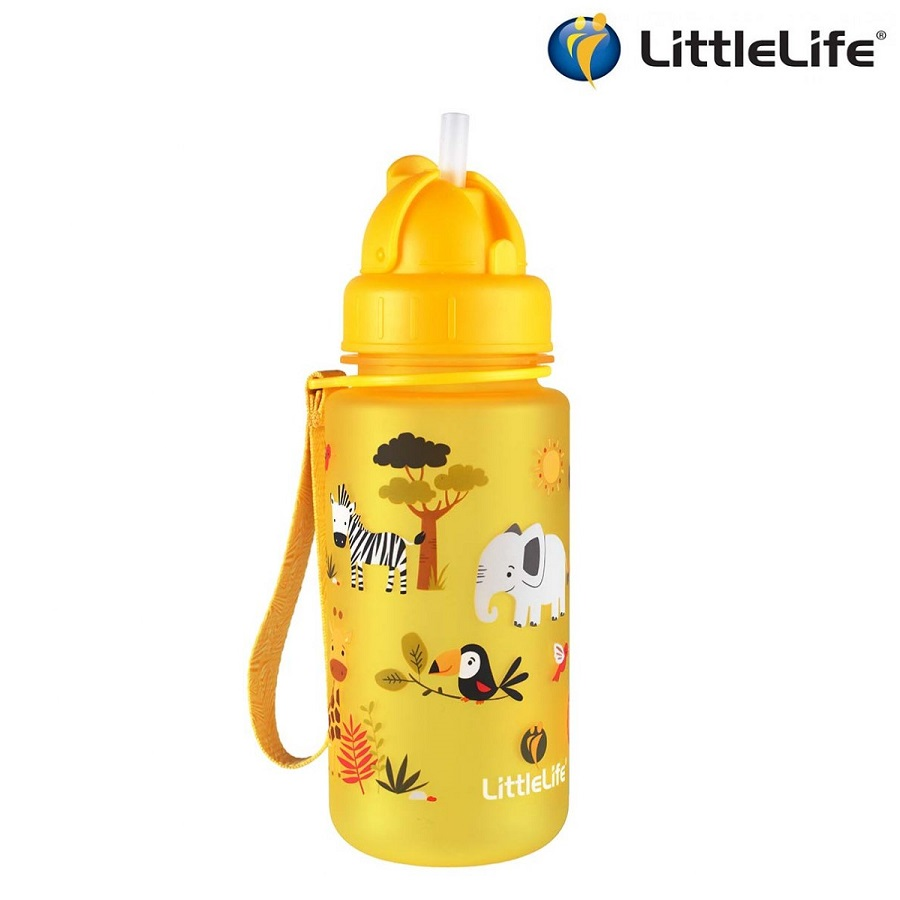 Vattenflaska barn Littlelife Safari 400 ml Gul