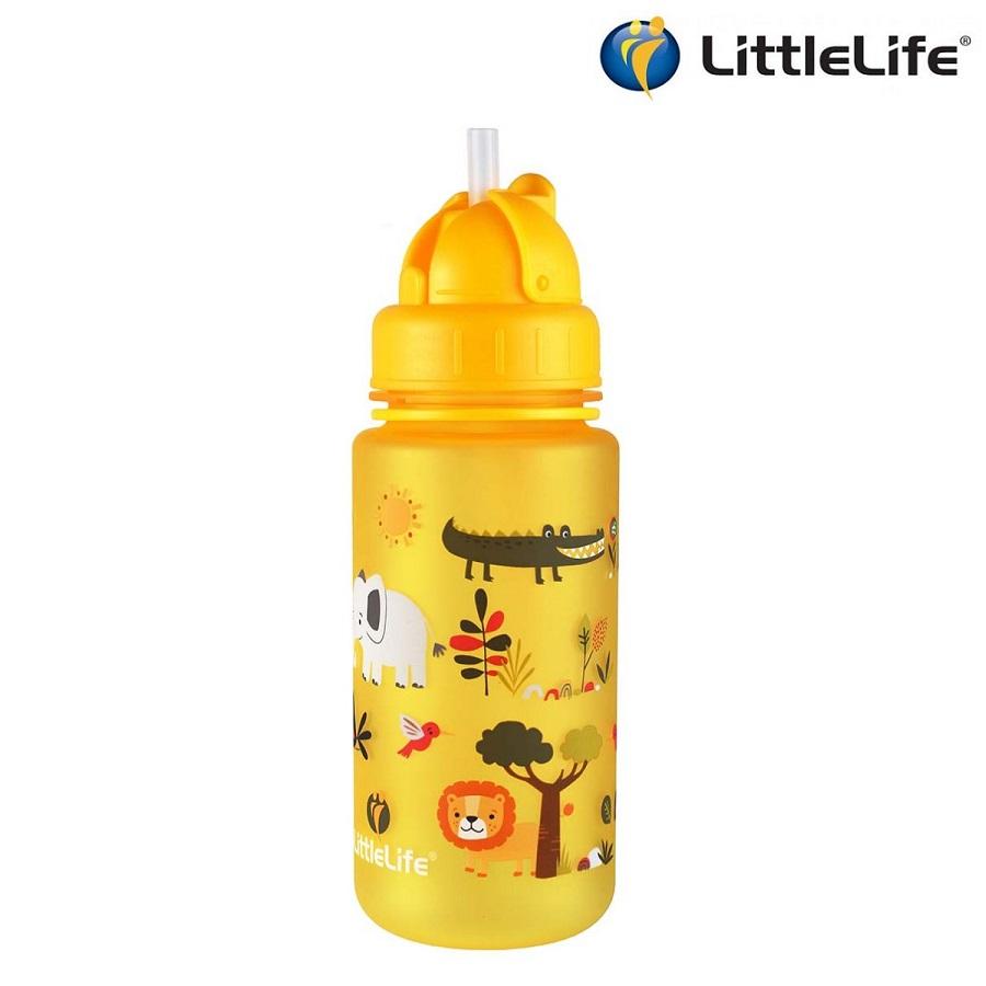 Vattenflaska barn Littlelife Safari 400 ml Gul