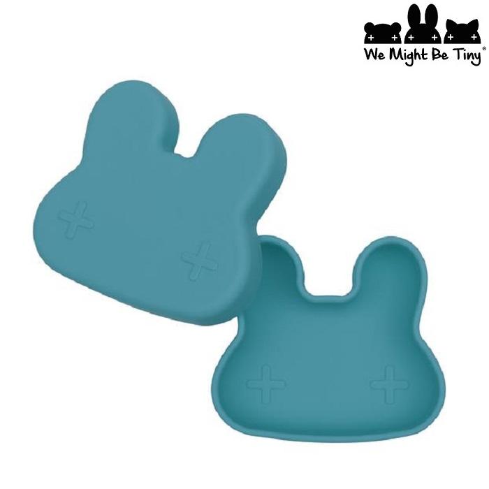Barntallrik och snackslåda i silikon - Blue Dusk