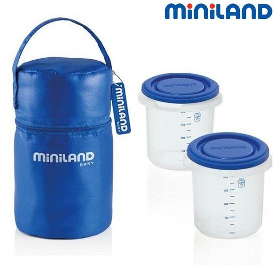 Isolerad termoväska till babymat Miniland Pack-2-go Blå